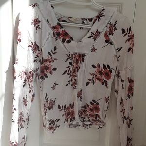 White Flower shirt